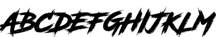RoadRage Font UPPERCASE
