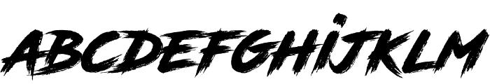 RoadRage Font LOWERCASE