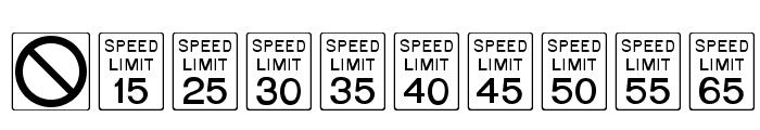 RoadSign Medium Font OTHER CHARS