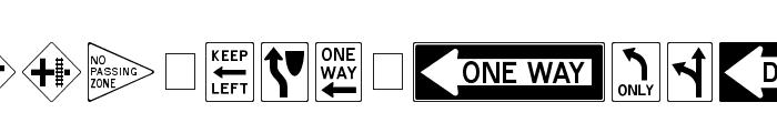 RoadSign Medium Font UPPERCASE