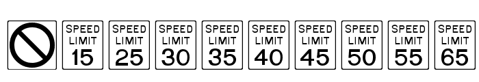 RoadSign Font OTHER CHARS