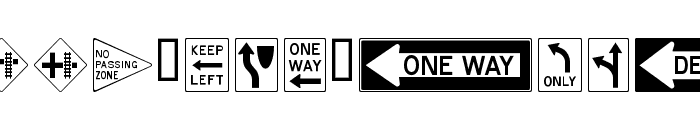 RoadSign Font UPPERCASE