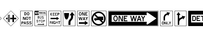 RoadSign Font LOWERCASE