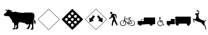 RoadWarningSign Font OTHER CHARS