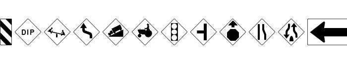 RoadWarningSign Font UPPERCASE