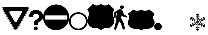 Roadgeek 2005 Icons Font OTHER CHARS