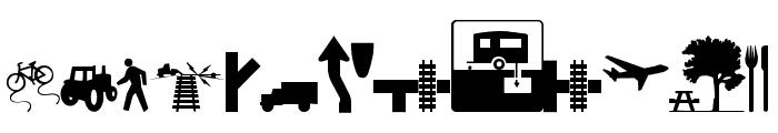 Roadgeek 2005 Icons Font UPPERCASE