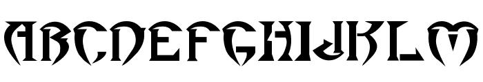 Roar Font UPPERCASE