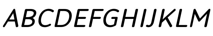 Robaga Rounded Italic Font UPPERCASE