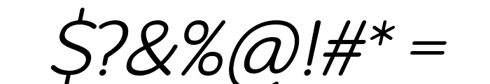 Robaga Rounded Light Italic Font OTHER CHARS