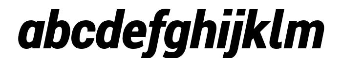 Roberto Sans Black Italic Font LOWERCASE