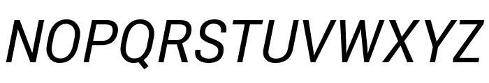 Roberto Sans Italic Font UPPERCASE