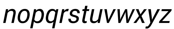 Roberto Sans Italic Font LOWERCASE