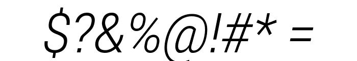 Roberto Sans Light Italic Font OTHER CHARS