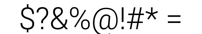 Roberto Sans Light Font OTHER CHARS