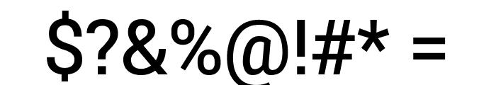 Roberto Sans Medium Font OTHER CHARS