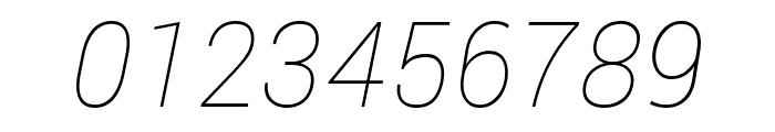 Roberto Sans Thin Italic Font OTHER CHARS