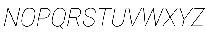 Roberto Sans Thin Italic Font UPPERCASE
