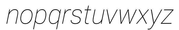 Roberto Sans Thin Italic Font LOWERCASE