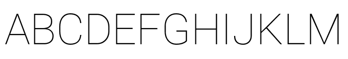 Roberto Sans Thin Font UPPERCASE