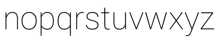 Roberto Sans Thin Font LOWERCASE
