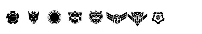 Robofan Symbols Font UPPERCASE