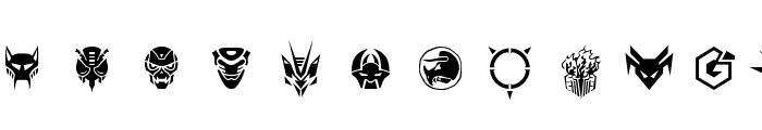 Robofan Symbols Font LOWERCASE