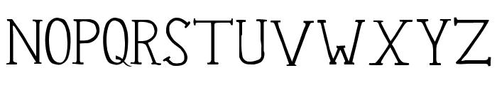 Robot Teacher Font UPPERCASE