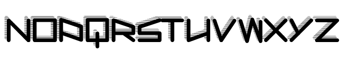 RobotShadow Font UPPERCASE