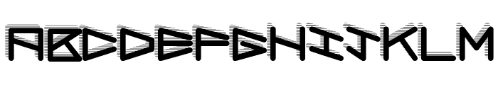 RobotShadow Font LOWERCASE