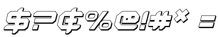 Robotaur 3D Italic Font OTHER CHARS