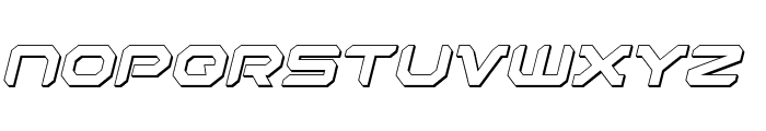 Robotaur 3D Italic Font LOWERCASE
