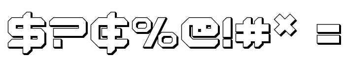 Robotaur 3D Font OTHER CHARS
