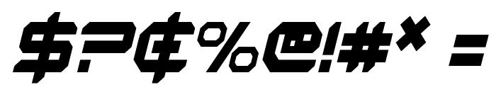 Robotaur Condensed Italic Font OTHER CHARS