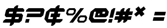 Robotaur Italic Font OTHER CHARS