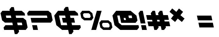 Robotaur Leftalic Font OTHER CHARS