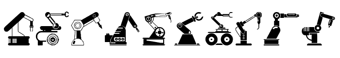 Robotic Arm Font OTHER CHARS