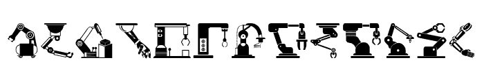 Robotic Arm Font UPPERCASE