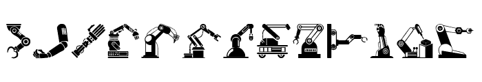 Robotic Arm Font LOWERCASE