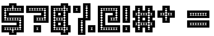 Robotic Harlequin Font OTHER CHARS