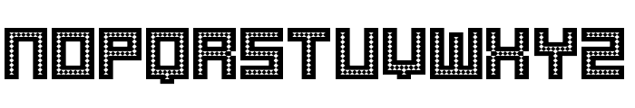 Robotic Harlequin Font LOWERCASE