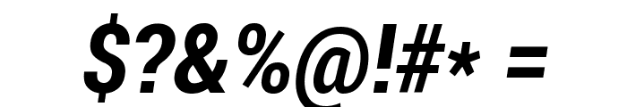 Roboto Bold Condensed Italic Font OTHER CHARS