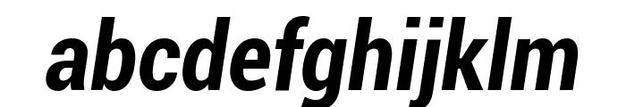 Roboto Bold Condensed Italic Font LOWERCASE