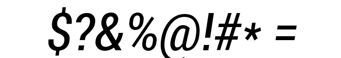 Roboto Condensed Italic Font OTHER CHARS