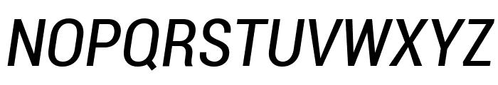 Roboto Condensed Italic Font UPPERCASE