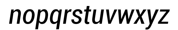 Roboto Condensed Italic Font LOWERCASE