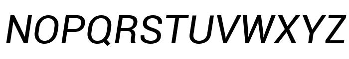 Roboto Italic Font UPPERCASE