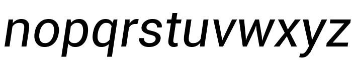 Roboto Italic Font LOWERCASE