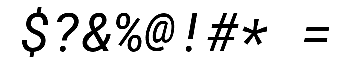 Roboto Mono Italic Font OTHER CHARS