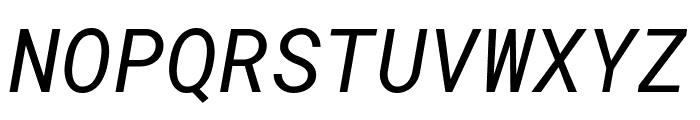 Roboto Mono Italic Font UPPERCASE